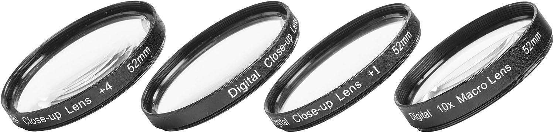 Magnification Kit Sakar 52mm Close-Up Filter Set +1, +2, +4 and +10 Diopters Metal Rim