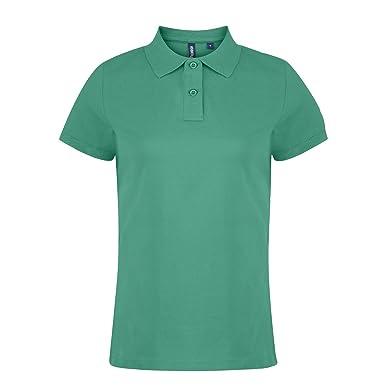 Asquith & Fox Womens Polo, Verde (Kelly 000), 42 (Talla del ...