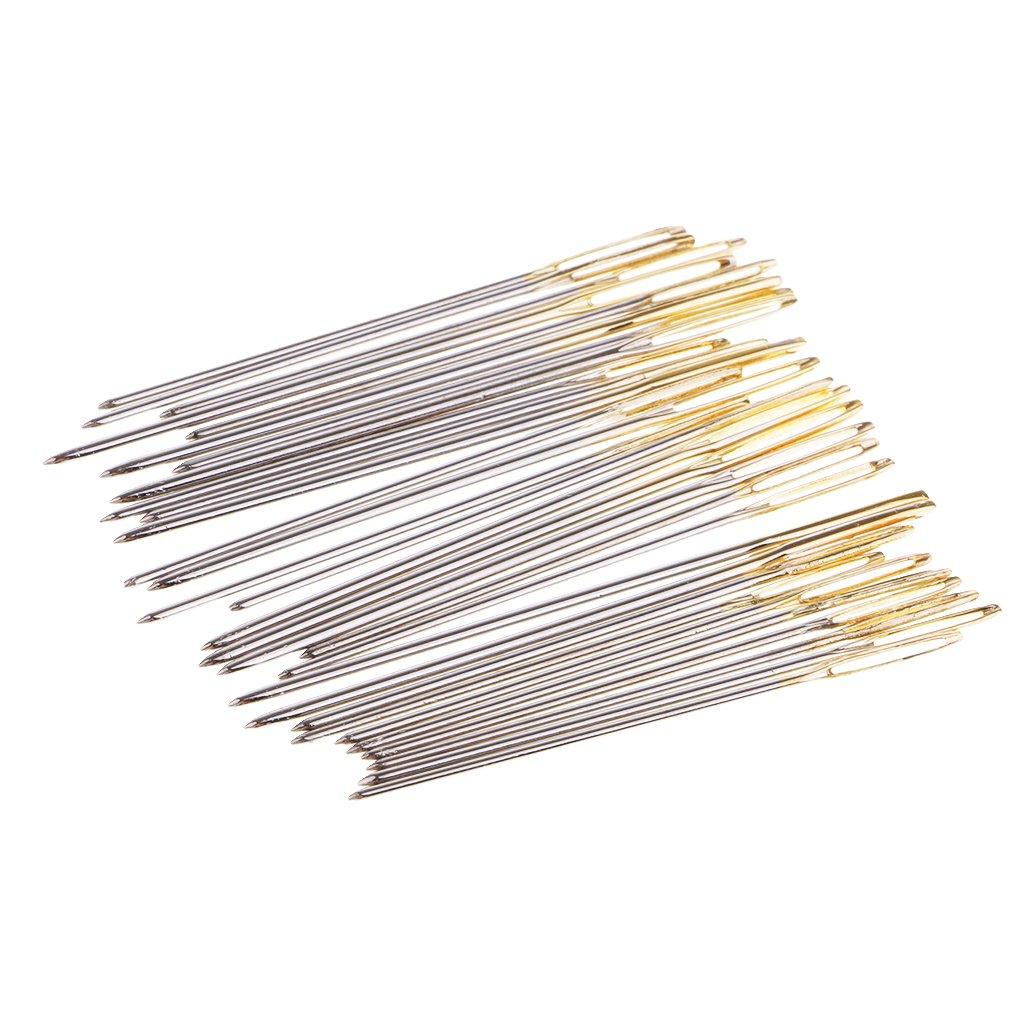 Baoblaze 120Pcs Mixed Cross Stitch Needles Hand Embroidery Needle Large Golden Eye Size 22 24 26