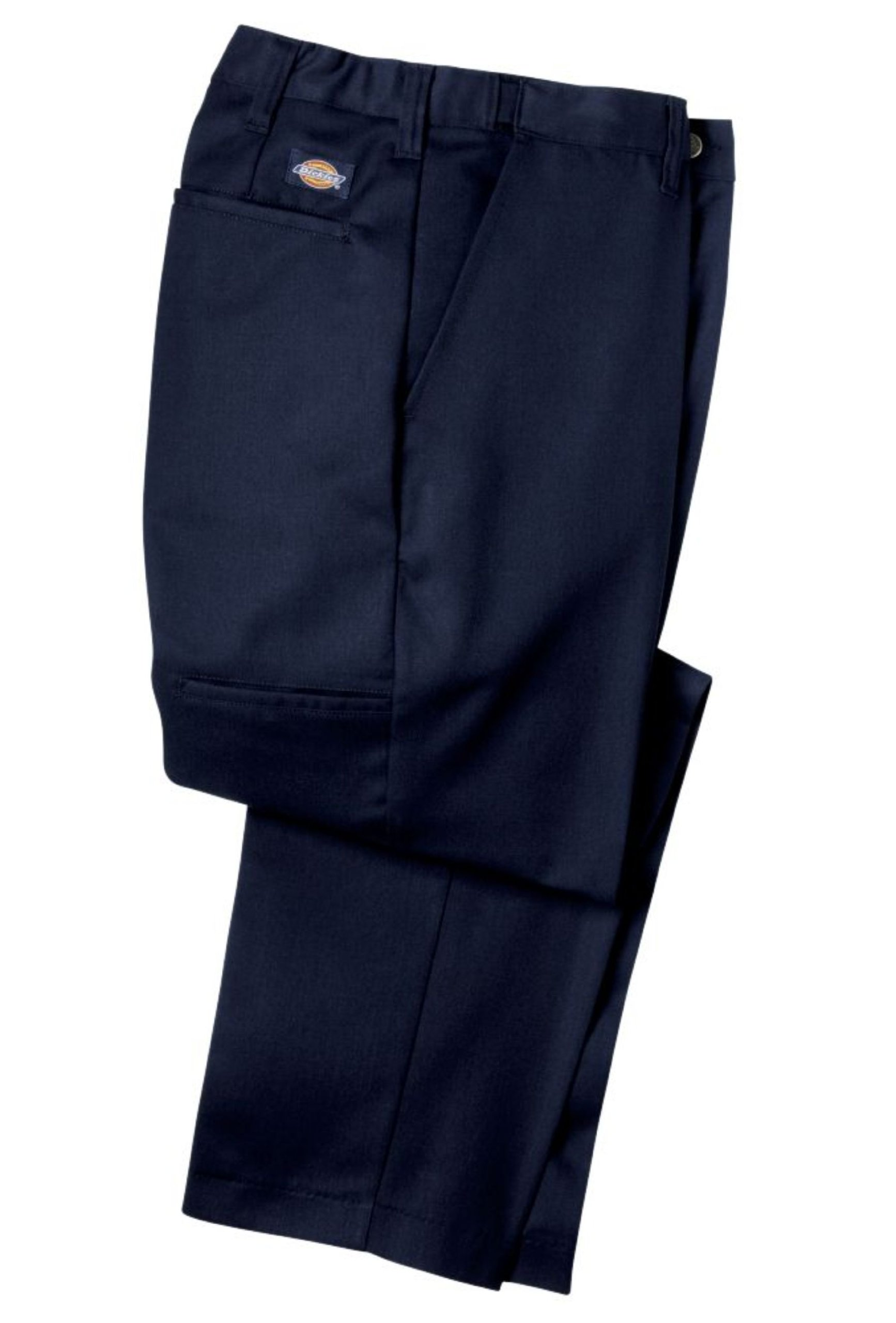 Dickies Occupational Workwear LP700NV 34x32 Polyester/ Cotton Relaxed Fit Men's Premium Industrial Flat Front Comfort Waist Pant with Straight Leg, 34'' Waist Size, 32'' Inseam, Navy Blue