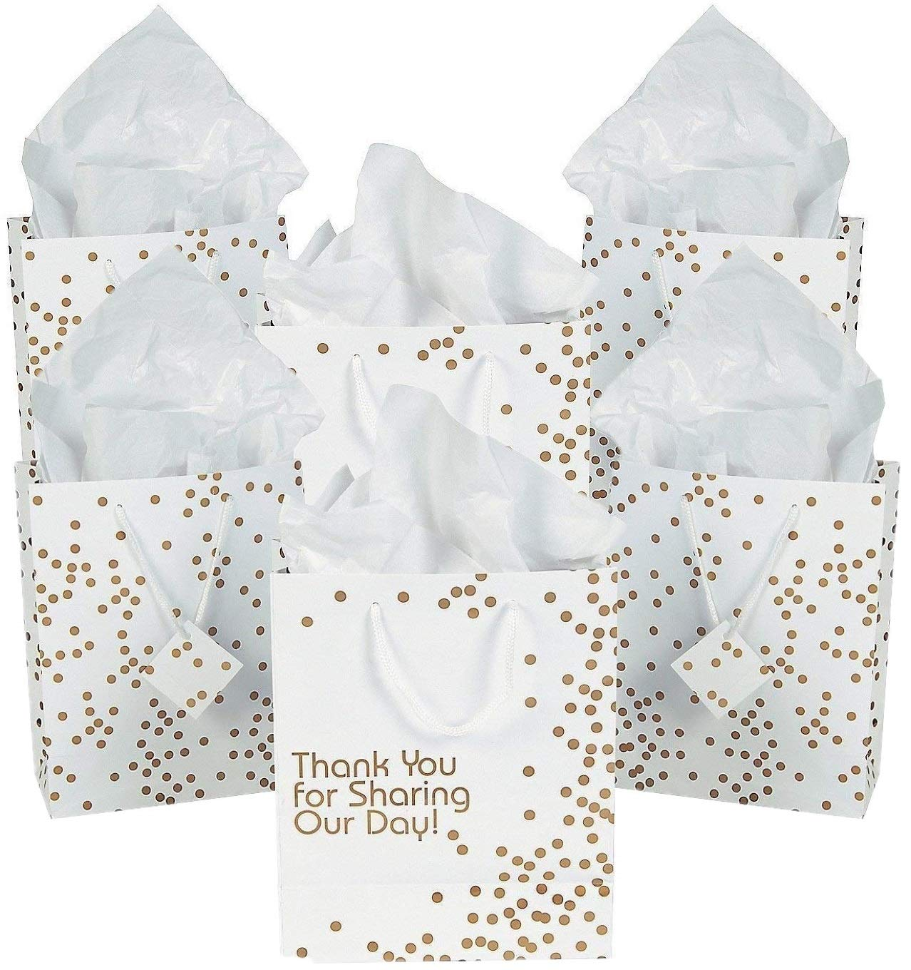 Fun Express Thank You For Sharing Our Day Wedding Thank You Gift Bags - 24 Pieces