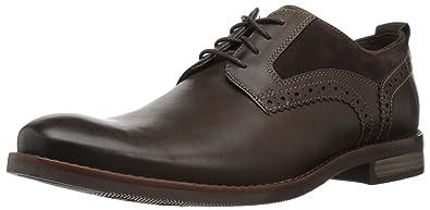 Rockport Men's Wynstin Plain Toe Oxford, Dark Bitter Chocolate, ...