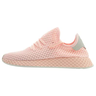 b4bbf088c adidas Deerupt Originals Women s Shoes Clear Orange Off White b41727 (5 B(M