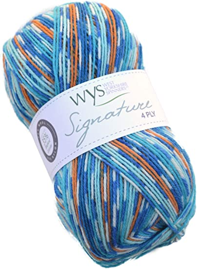West Yorkshire Spinners signature 4ply sock yarn 100g Blue Lagoon