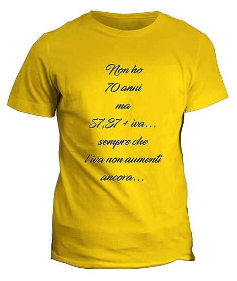 Fashwork Tshirt Compleanno Non Ho 70 Anni Ma Idee Regalo
