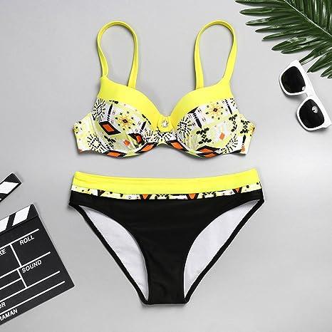 Swimsuits For Women Wokasun.JJWomen Bow Bandage Bikini Push-Up Pad Bathing Beachwear SetReduced Price Swim Suites