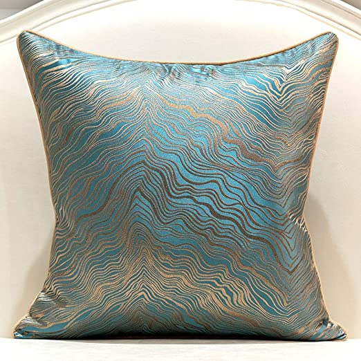 Amazon.com: Avigers 18 x 18 Inch Square Green Teal Gold Abstract
