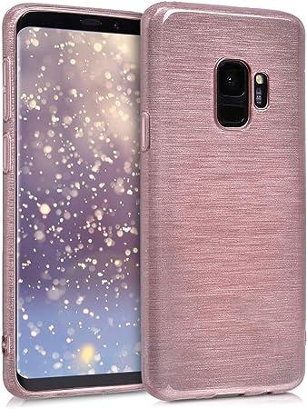 Kwmobile Hülle Kompatibel Mit Samsung Galaxy S9 Handyhülle Handy Case Brushed Aluminium Rosegold Transparent Elektronik