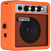 ammoon Amplifier Speaker 5 Watt 9V Battery Powered for Acoustic/ Electric Guitar Ukulele High-Sensitivity with Volume Tone Control