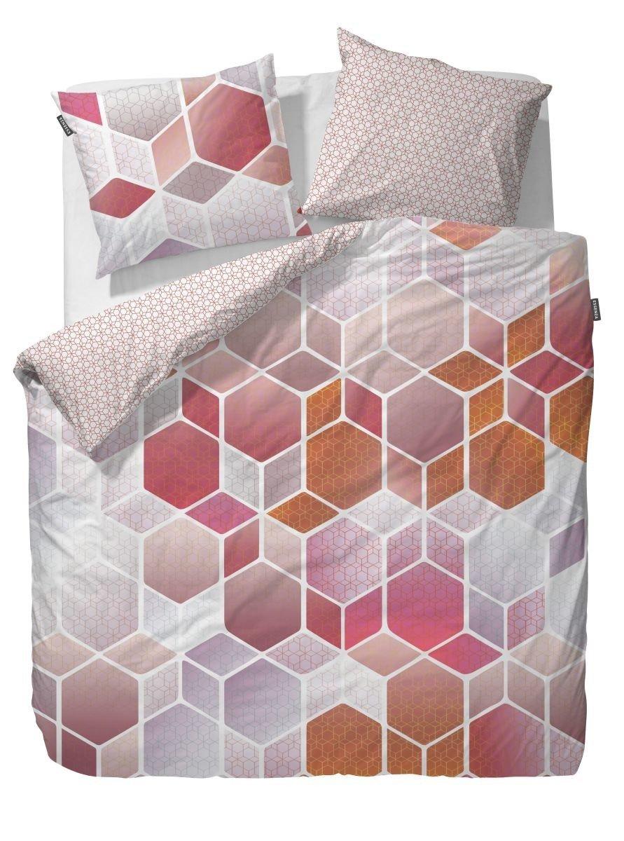 Essenza Bettwäsche Hexagon   ROT   155 x 220 cm