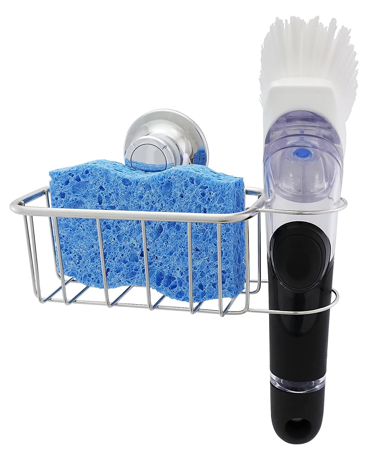 Amazon.com: The Crown Choice PATENTED Suction Kitchen Sponge Holder ...