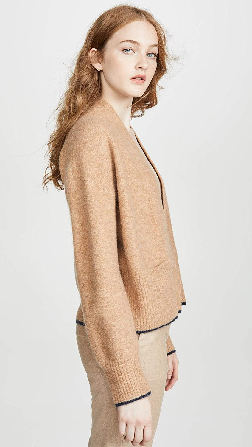 Vince Womens Contrast Tip Cardigan
