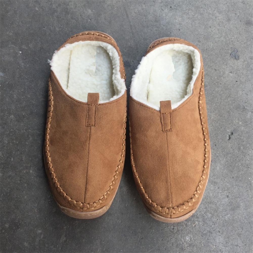 Zapatillas de invierno para hombres engrosadas con zapatos ligeros casuales Baotou perezosos , 47 , yellow yellow|47