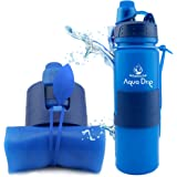 Girls Cute Reusable Water Bottle with Leakproof Flip up Cap and Carry Handle 16 ounces,Color Orange Cool Gear Inc