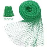 Anti-Bird Netting 33Ft x 13Ft Nylon Woven with 100Pcs Nylon Cable Ties Garden Farm Plants Fencing Mesh Fruits Protector…