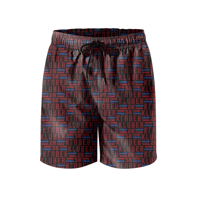 QuanJessica Men Fashion Beach Shorts Swim Trunks with Mesh Lining