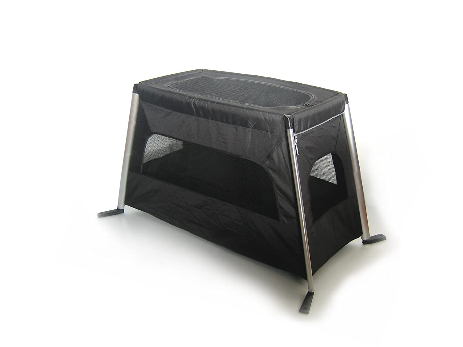 amazoncom traveller crib black by phil and teds travel crib baby