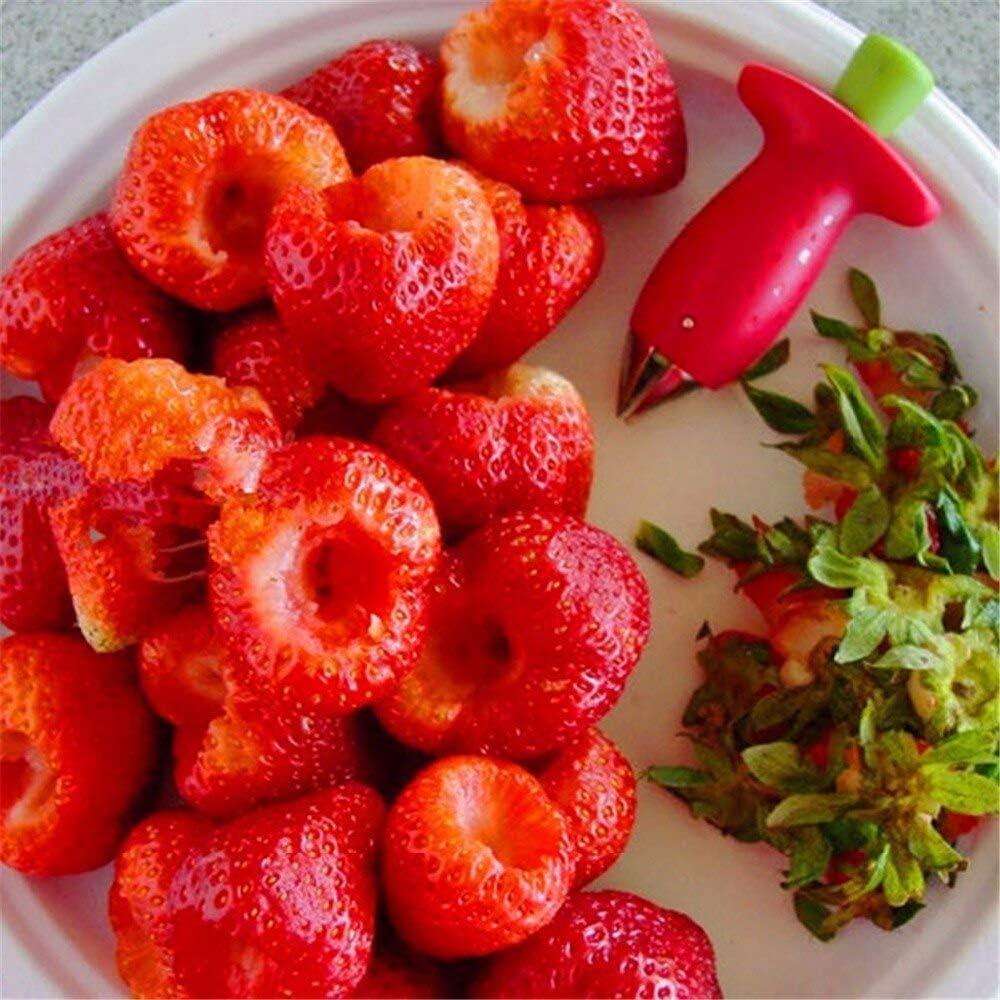 Cortador de frutas, rojo con núcleo verde, fruta, piedra, fresa ...
