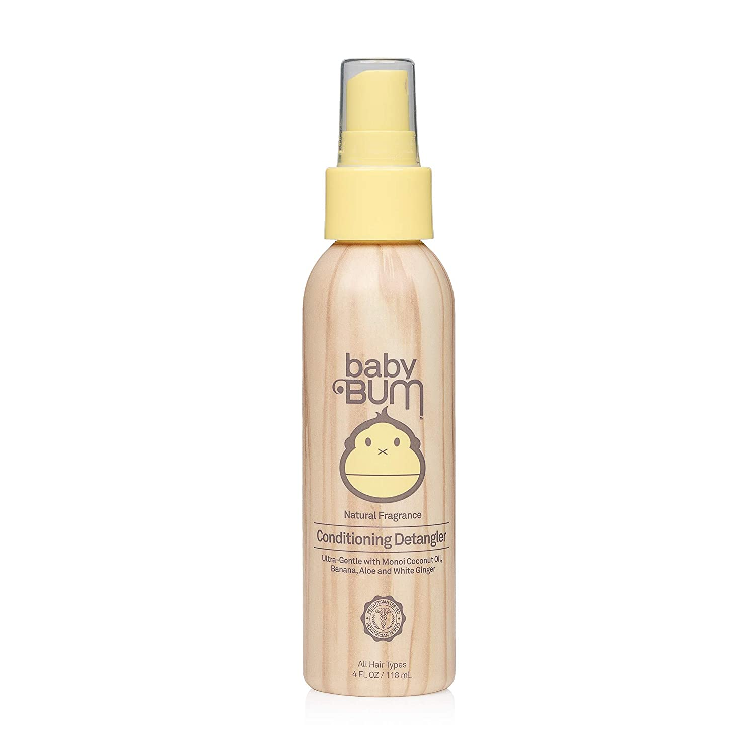 Baby Bum Conditioning Detangler Spray - Leave-in Conditioner – Natural Fragrance - Gentle & Safe with Soothing Coconut Oil - 4 FL OZ