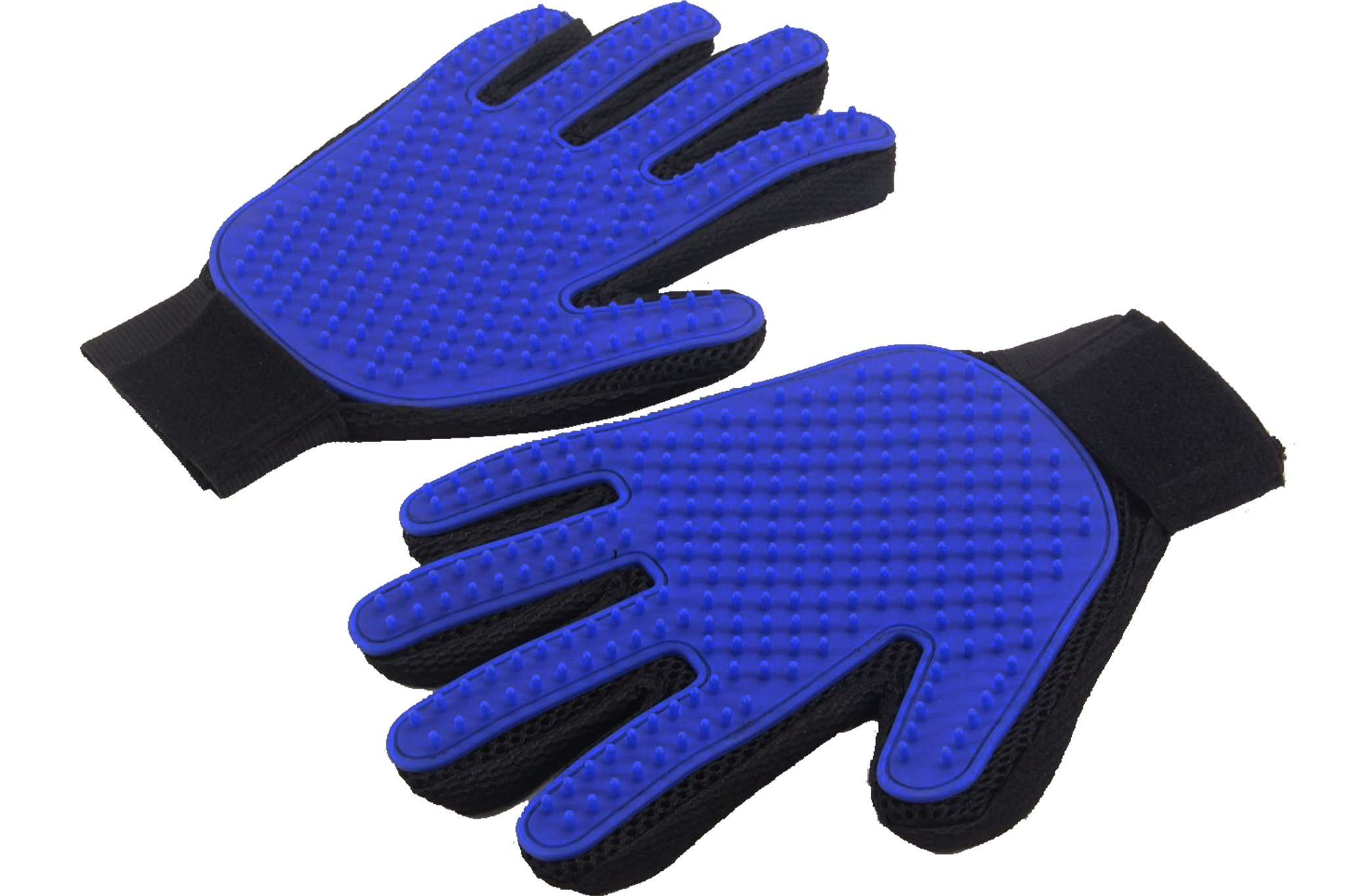 [Upgraded Version] Pet Grooming Gloves - Gentle Brush Gloves - Efficient Pet Hair Remover Mitt - Massage Tool with Enhanced Five Finger Design - Perfect for Dogs & Cats with Long & Short Fur