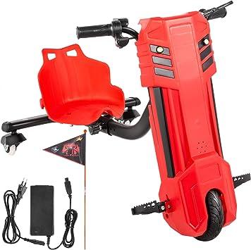 Bisujerro Kart Pedales para Niños Go Kart Pack para Niños Go Kart Racing Deportivo Hoverboard con Silla Potente Batería de Litio Asiento Ajustable Color Abejorro Rojo: Amazon.es: Juguetes y juegos