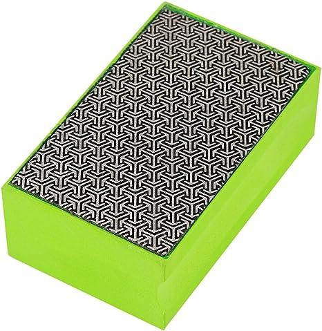 #200 Yosoo Diamond Hand Polishing Pads 60-400# Grit Diamond Hand Sanding Polishing Pads for Stone Marble Glass Granite Concrete Stone Hand Polishing