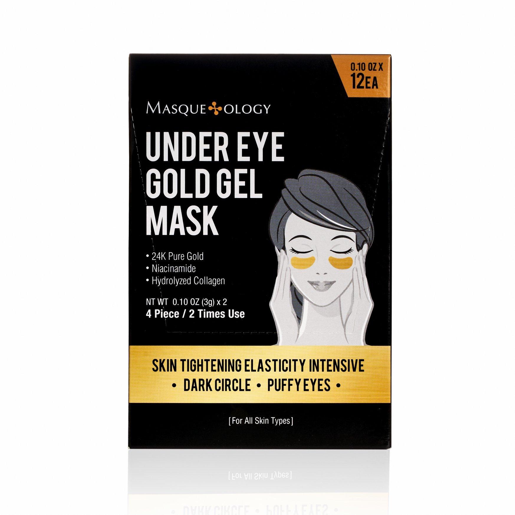 Masqueology Under Eye Gold Gel Mask, 12 ct.
