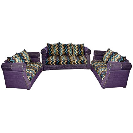adhunika purple sofa set amazon in home kitchen rh amazon in purple sofa set online shopping purple sofa set online shopping