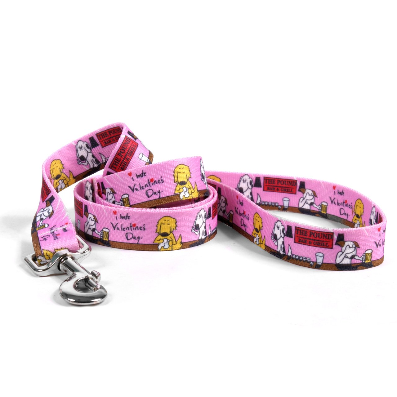 Yellow Dog Design, I Hate Valentine's Day Dog Leash, Extra Small 3/8'' x 60'' (5 ft.) by Yellow Dog Design