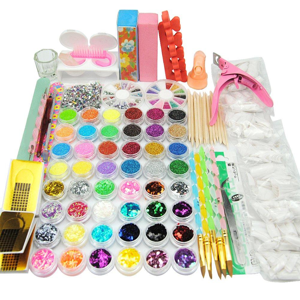 Coscelia 36w Pink Nail Lamp UV Gel Acrylic Powder UV Primer Nail Glitter Strip Decoration Nail Crystal Brush Kit For Nail Tips Set