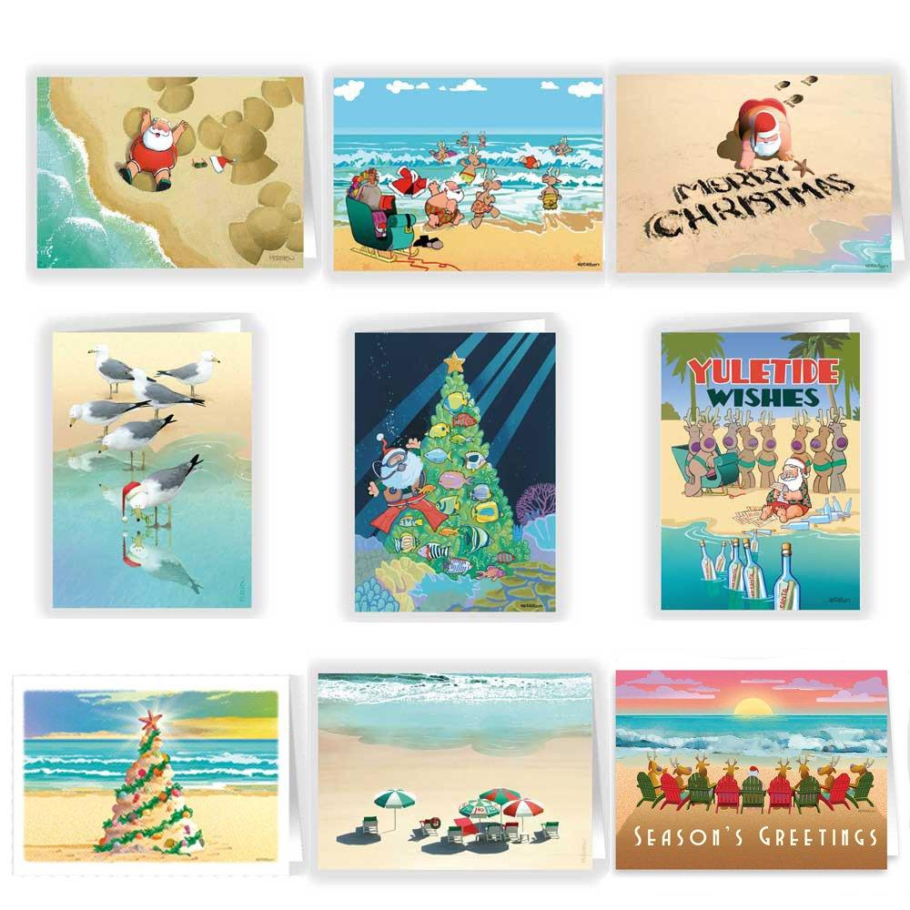 Ultimate Beach Christmas Dreeting Card Variety Pack 36 Beach Cards ...