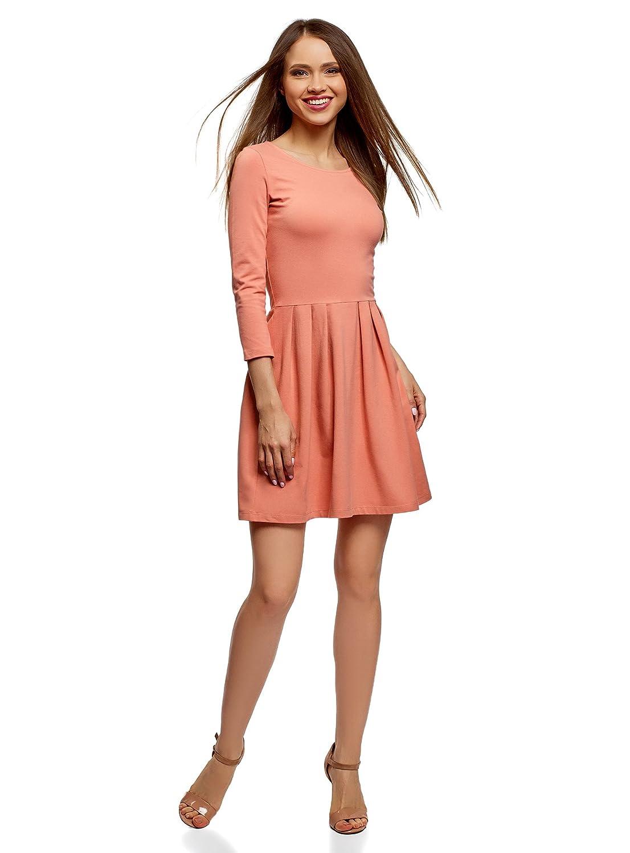 oodji Ultra Damen Tailliertes Jersey-Kleid RIFICZECH s.r.o. 14011005-3B