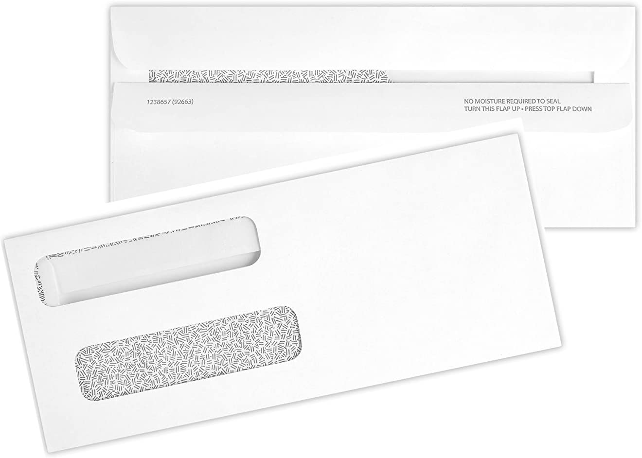 500 Double Window Check Envelopes Self Seal with Security Tint Works with all Software