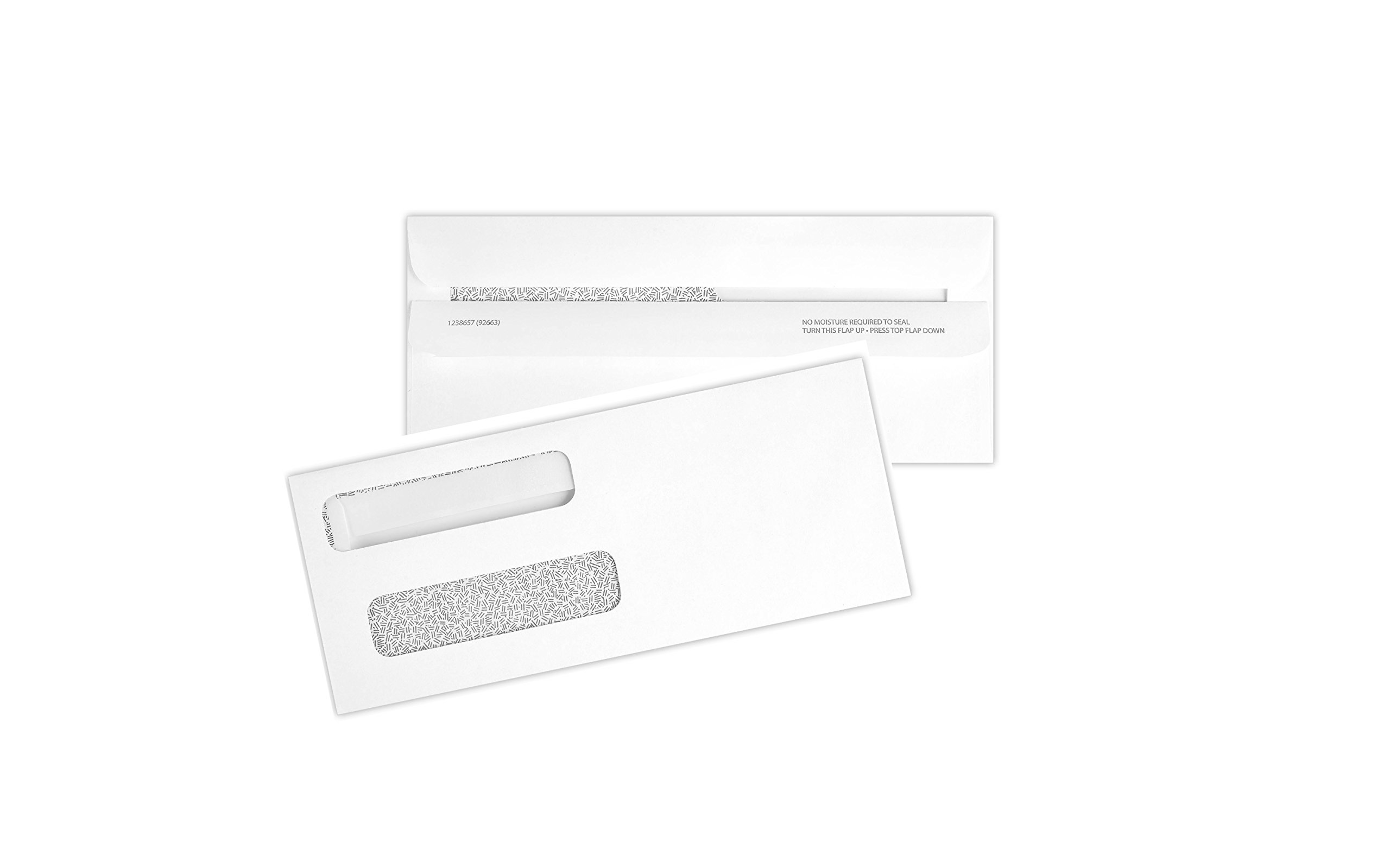 500 Double Window Check Envelopes Self Seal with Security Tint Works with all Software by Tech Checks