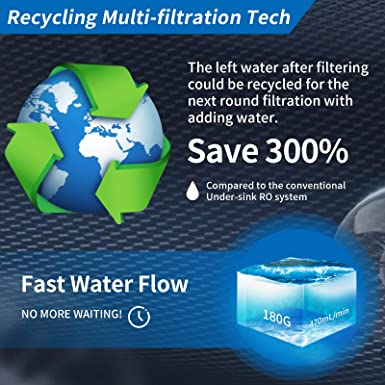 pour filtre /à eau de comptoir KFLOW KFLOW Filtre /à eau de remplacement 4/ème /étape CCF Filtre arri/ère en carbone de noix de coco