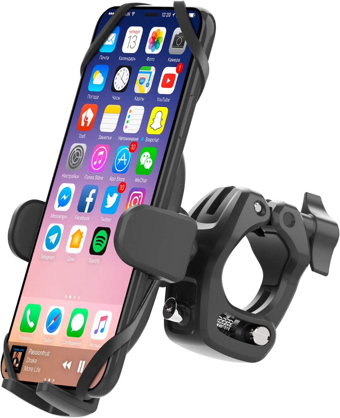 APPS2Car Bicycle /& Motorcycle Phone Mount 360 Rotation Universal Cell Phone Holder For Bike Adjustable Handlebar Holder Compatible with iPhone SE2//11 Pro//11//Max//XS//XR//X//8 4.7-6.8 inch Samsung Galaxy