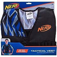 Jazwares NER0157 Nerf Elite yelek, siyah/mavi/gri, tek beden