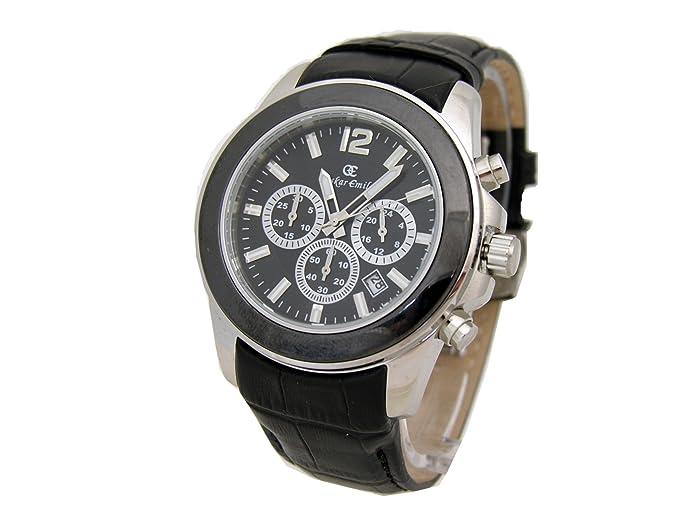 Oskar Emil Alpha Black - Reloj analógico de Cuarzo para Hombre, Correa de Cuero Color Negro: Amazon.es: Relojes