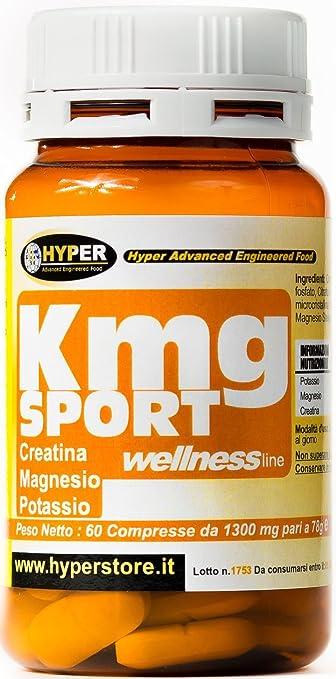 2 opinioni per Hyper KMG Sport Magnesio Potassio Creatina Energetico- Barattolo da 60 Compresse
