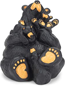 DEMDACO Home Again Black Bear 4 x 4 Hand-cast Resin Figurine Sculpture