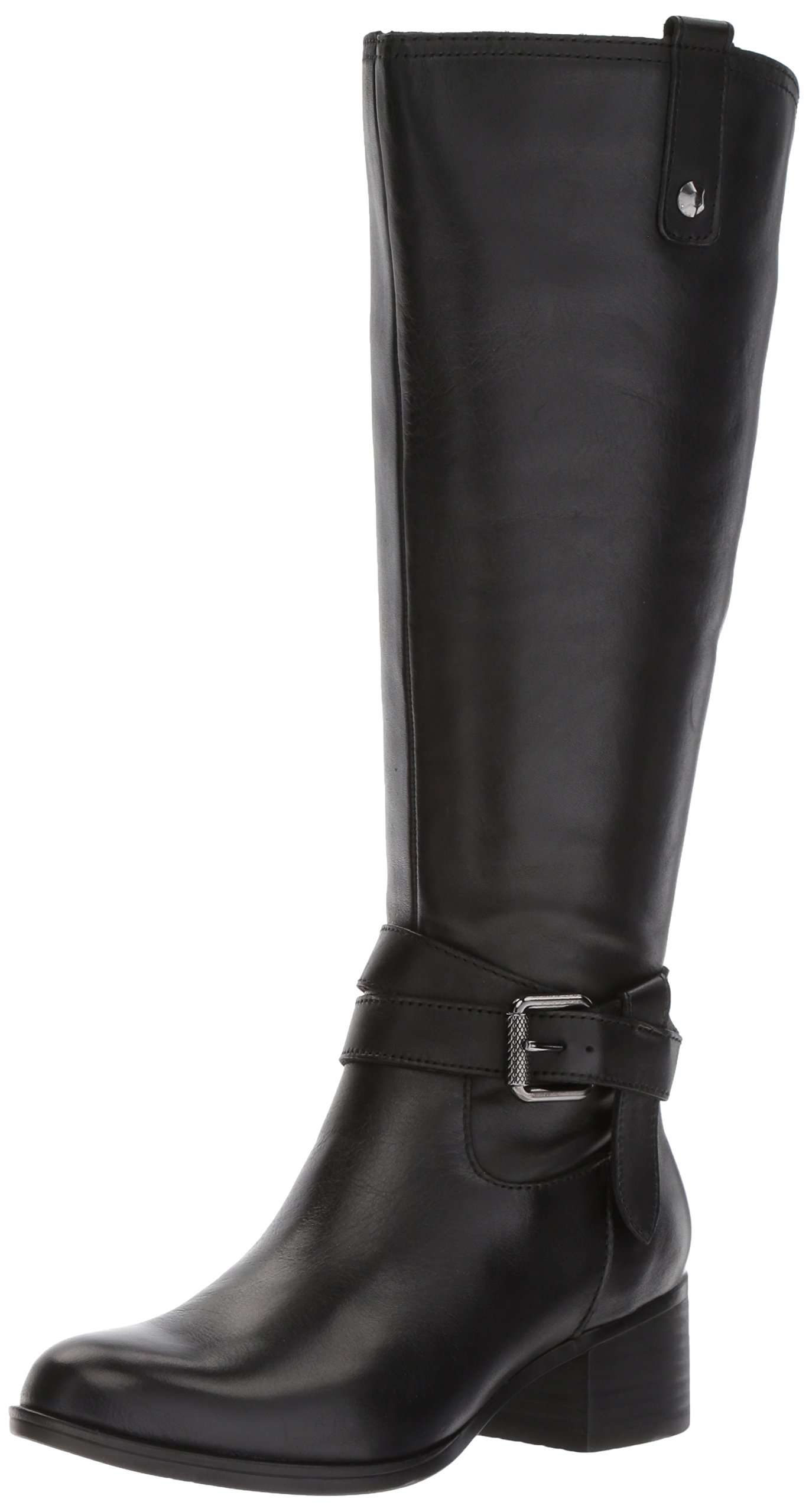 Naturalizer Women's Dev Wc Riding Boot, Black, 9.5 M US