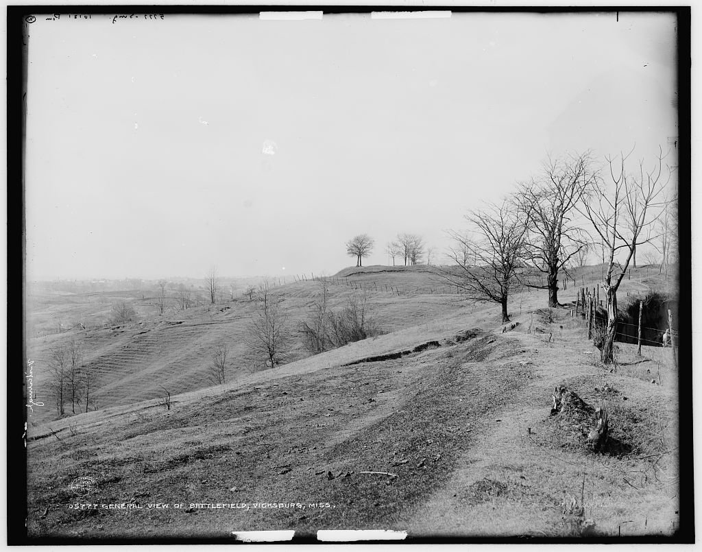 16 x 20 Ready to Hang Canvas Wrap General View of Battlefield Vicksburg Miss 1900 Detriot Publishing 40a