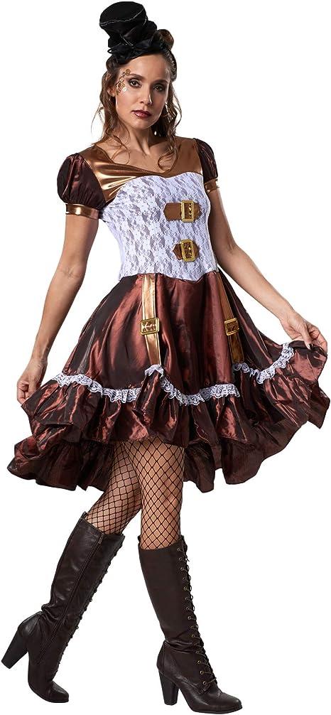 dressforfun 900484 - Disfraz de Mujer Chica Steampunk, Vestido de ...