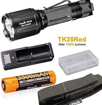 1000 lúmenes Fenix tk25 red linterna Lampara max