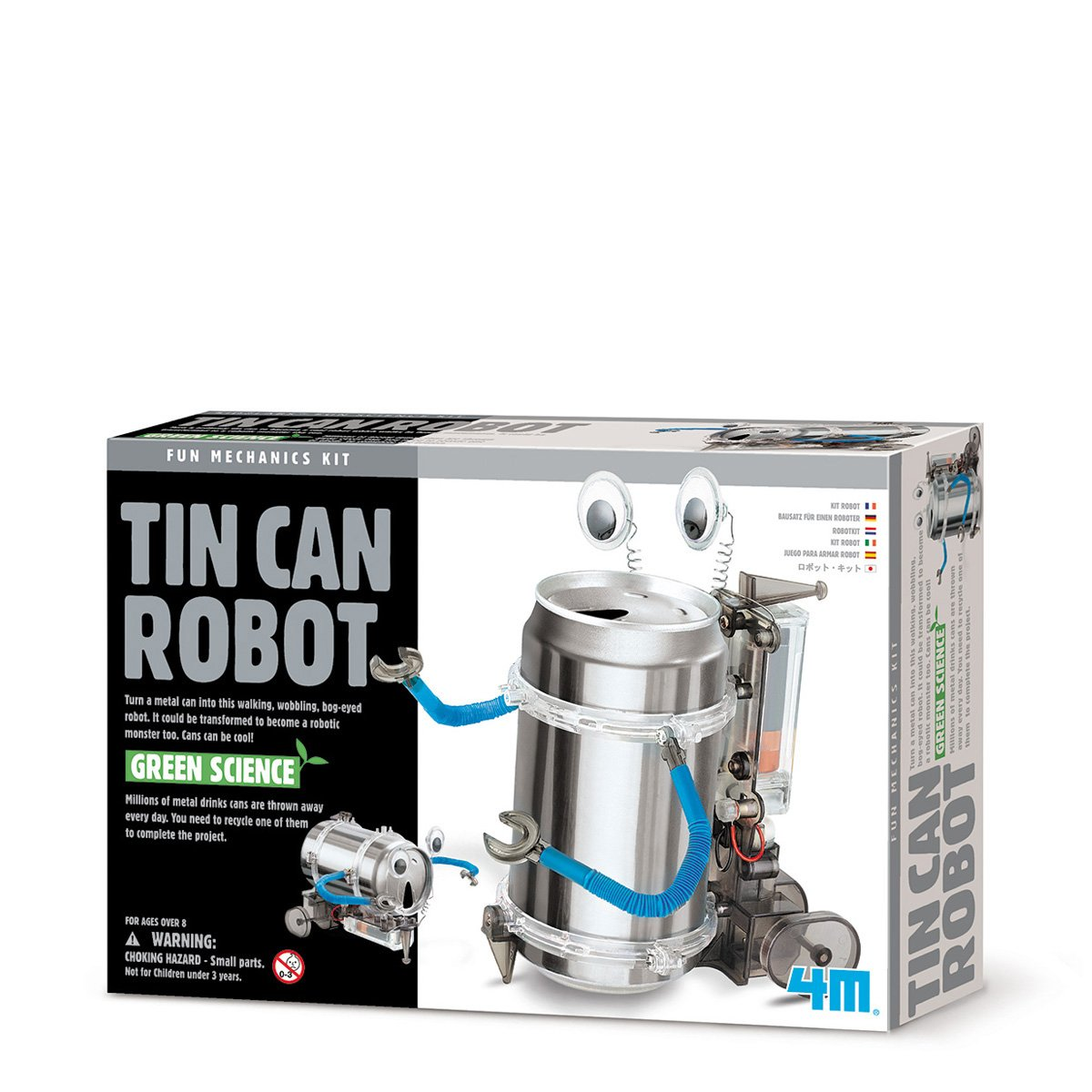4M 4153 Kidz Labs Tin Can Robot Great Gizmos motor with electrical wire Development & Learning Scientific Toys
