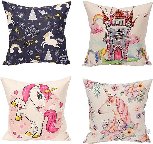 Cartoon Dachshund Print Linen Pillow Case Waist Throw Cushion Cover Sofa Decor