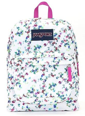 Jansport Superbreak Backpack multi white floral haze
