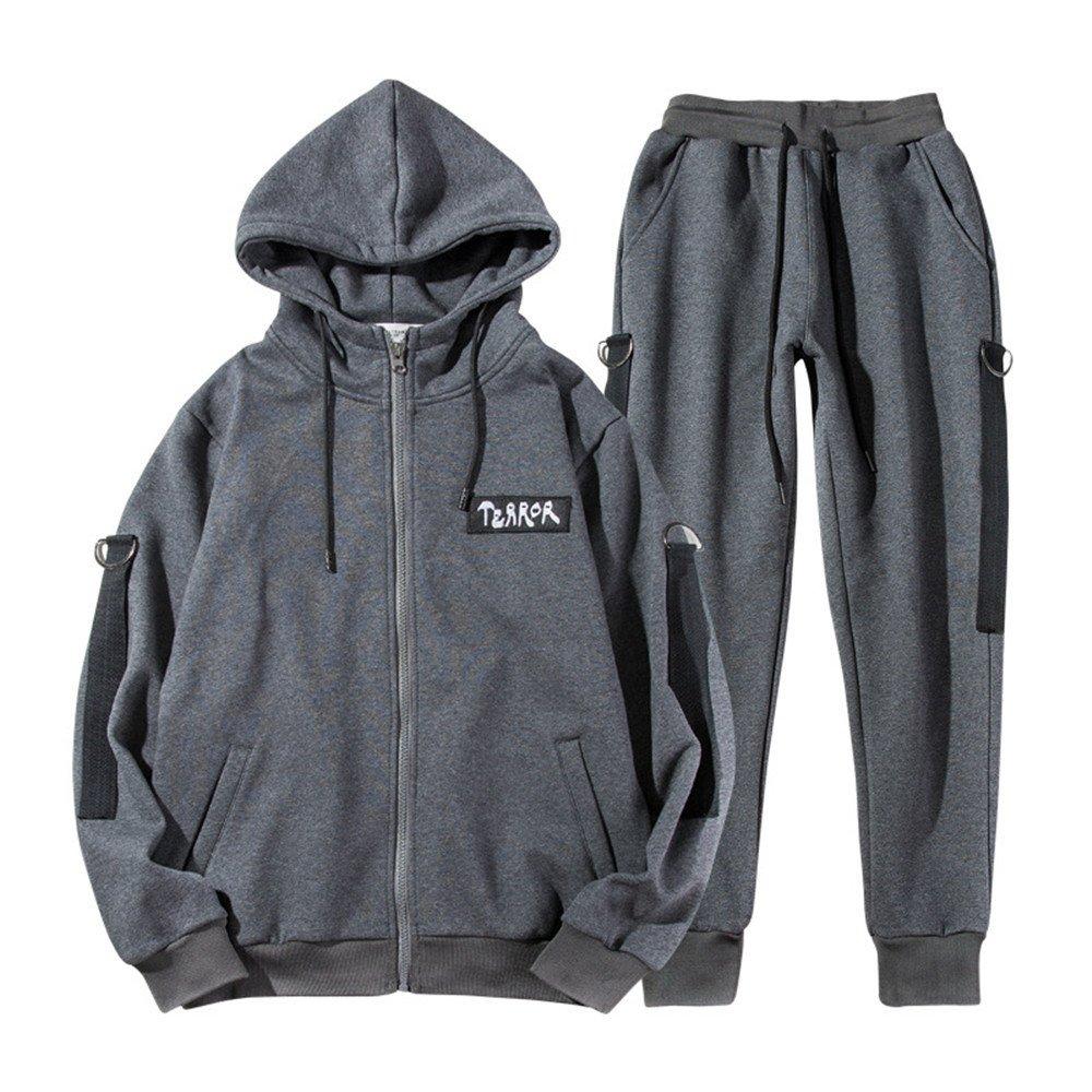 Ndsoo Herbst und Winter Sport Anzug Sport Pullover Anzug männlichen koreanische Jugend - Freizeit - Kleidung,dunkelgrau,3XL