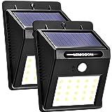 センサーライト 人感ソーラーライト LEMOSON 3つの知能モード 両面テープ付 20LED屋外照明 防水太陽光発電