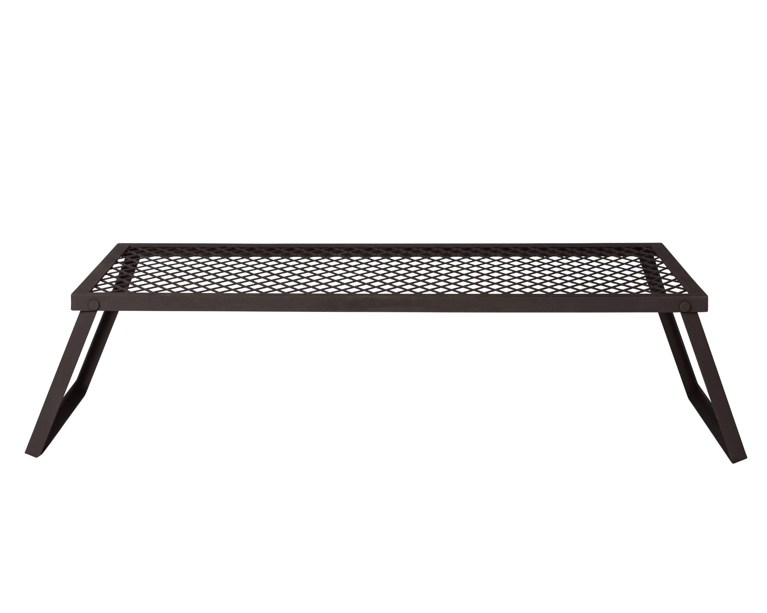 AmazonBasics Extra Large Portable Folding Camping Grill Grate - 40 x 18 x 9 Inches, Black Steel by AmazonBasics